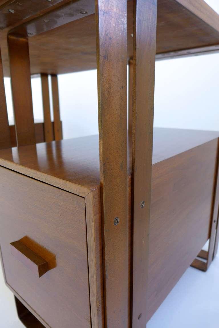 Walnut Deskey Desk Machine Age Desk For Sale