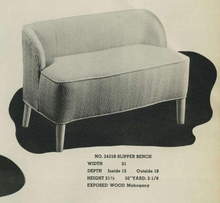 1938 Dunbar Slipper Bench For Sale 2