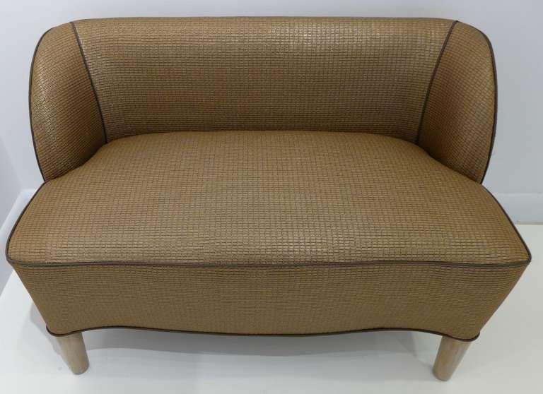 American 1938 Dunbar Slipper Bench For Sale