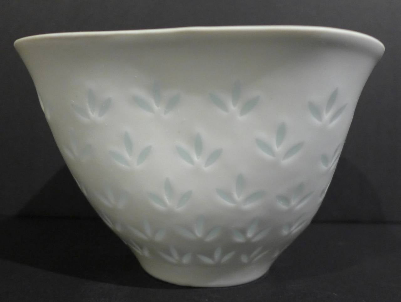 Finnish Rice Porcelain Bowl by Friedl Kjellberg for Arabia
