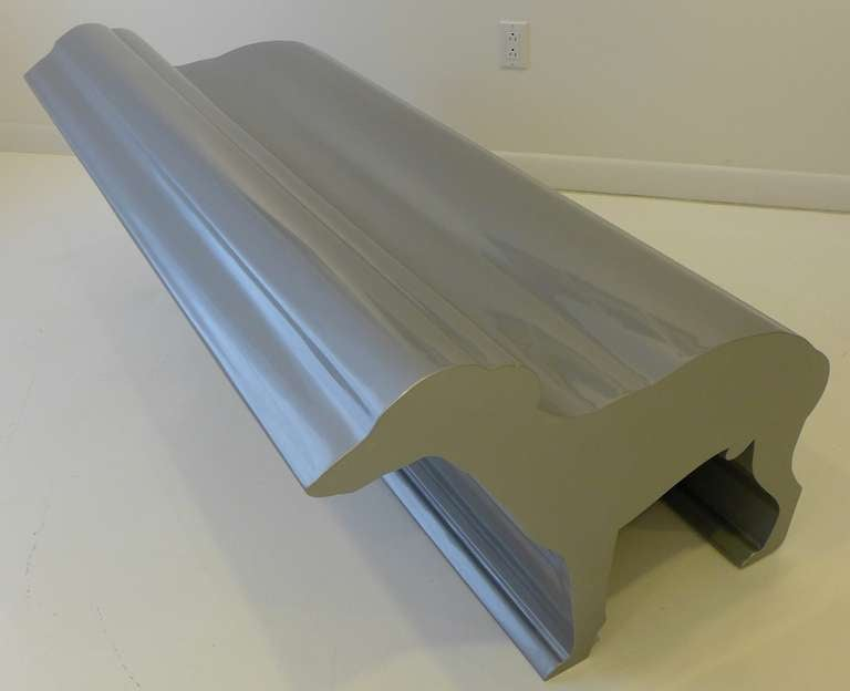 Lacquered Whippet Bench by Radi Designers For Sale