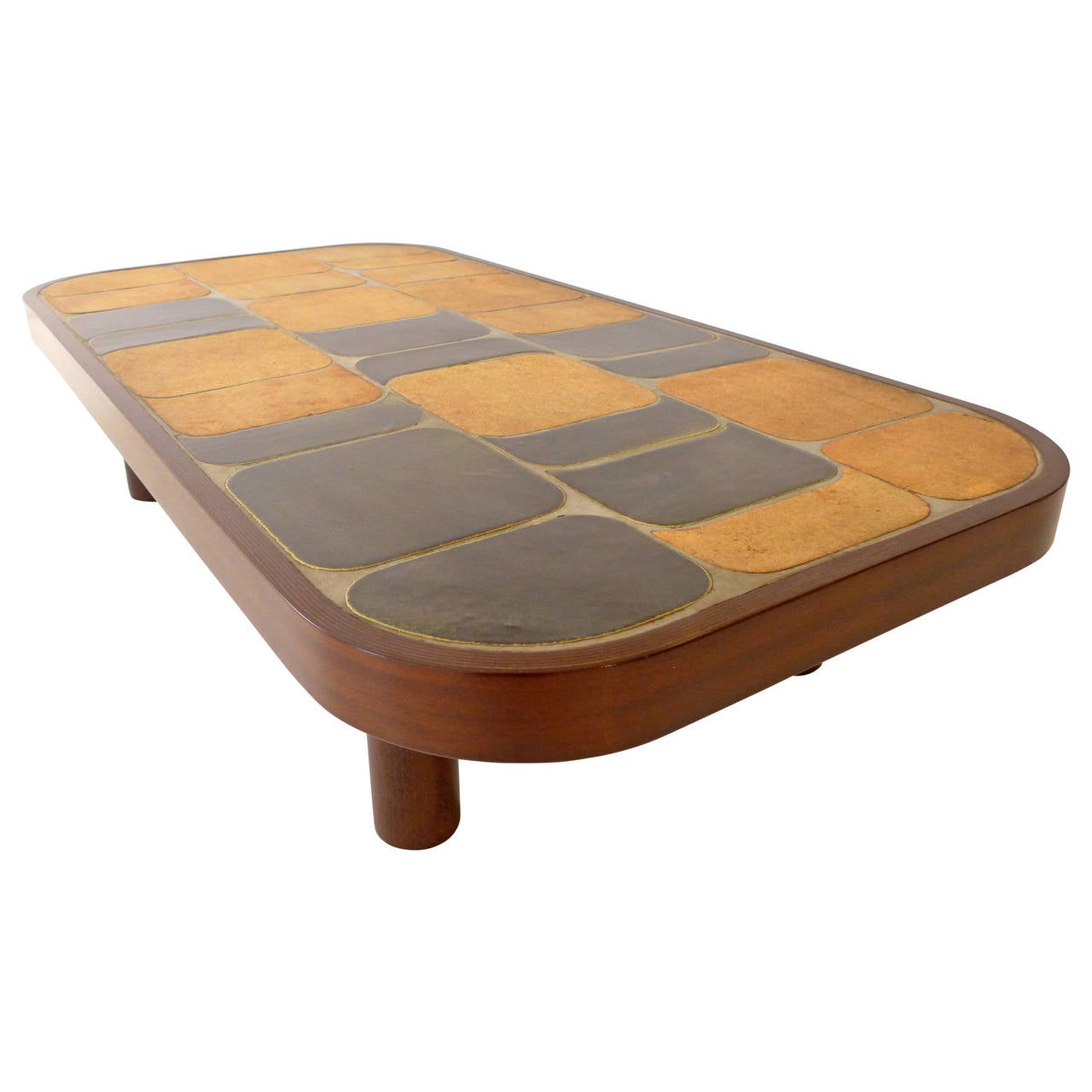 Roger Capron Ceramic Tile Cocktail Table At 1stdibs