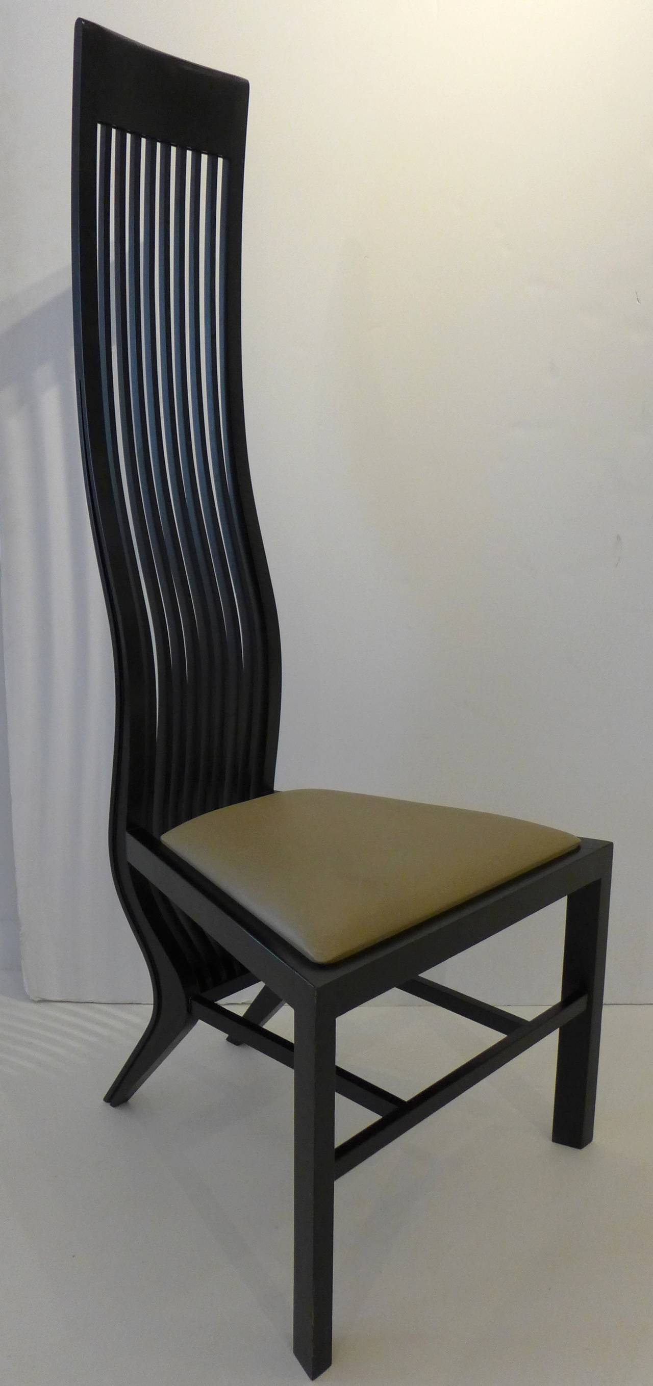 Italian Pair Of Monroe Chairs By Arata Isozaki For Sale
