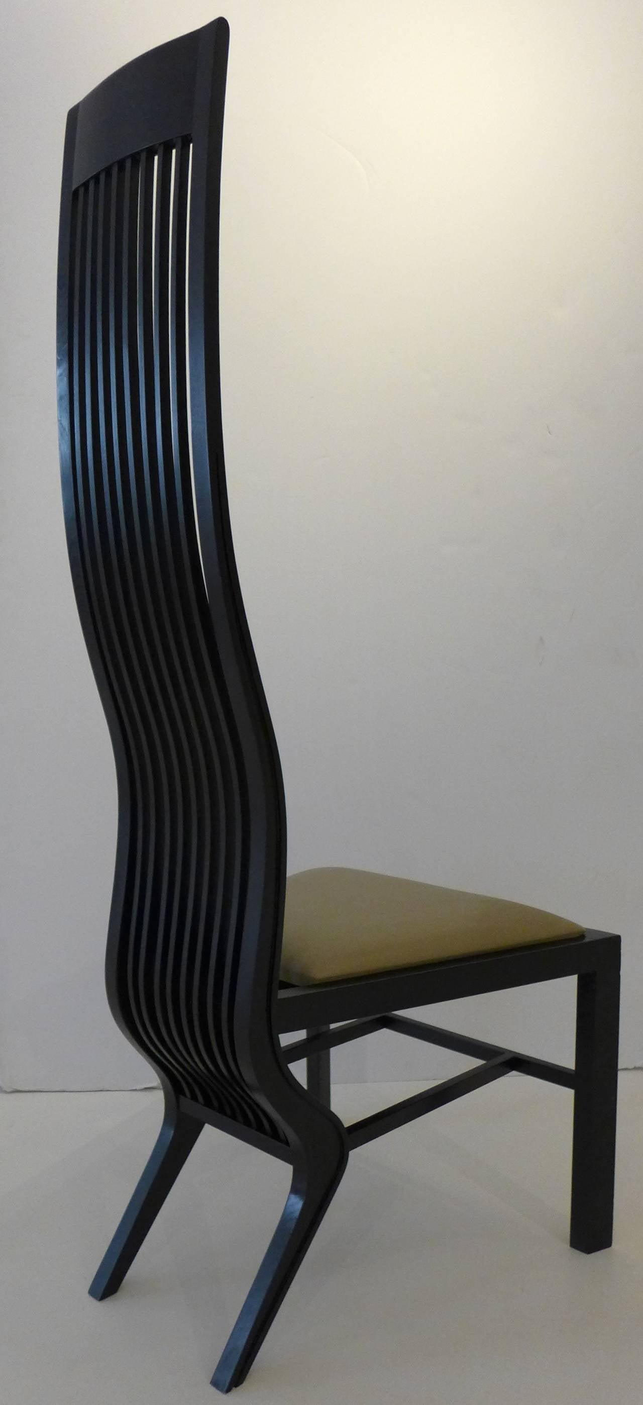 Lacquered Pair Of Monroe Chairs By Arata Isozaki For Sale