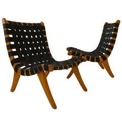 Pair of Webbed Chairs by Michael van Beuren