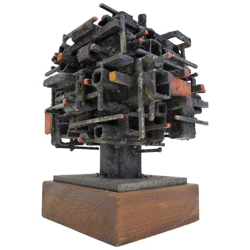 """Dwelling"" Box on Pedestal by James Anthony Bearden"