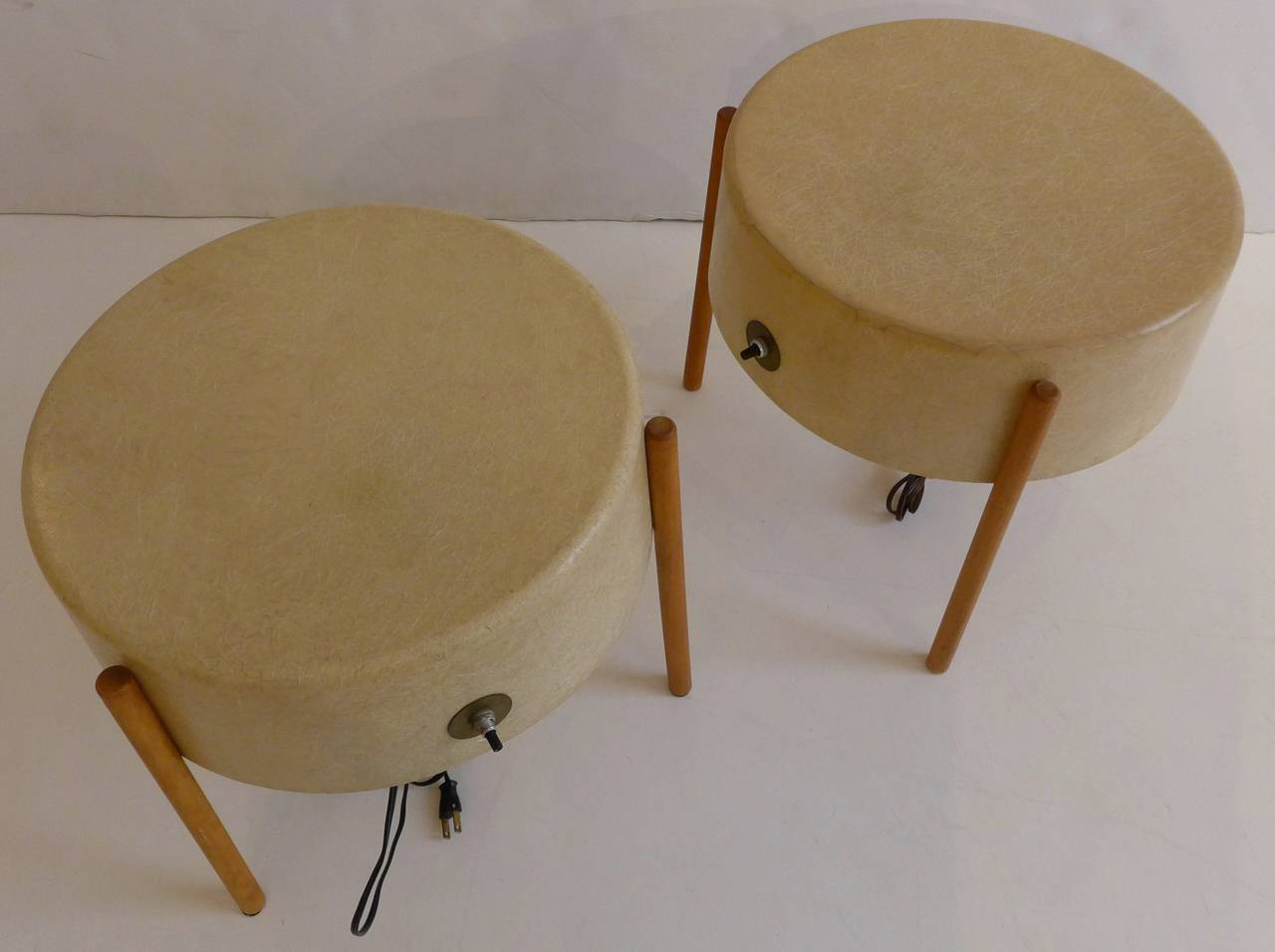 Mid-Century Modern Pair of Molded Fiberglass Light Tables by Bill Lam For Sale