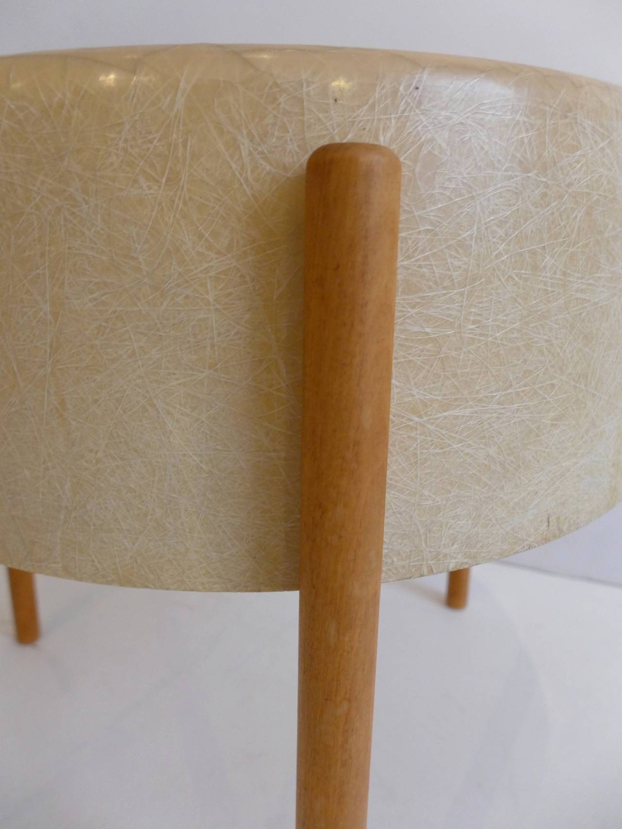 Birch Pair of Molded Fiberglass Light Tables by Bill Lam For Sale