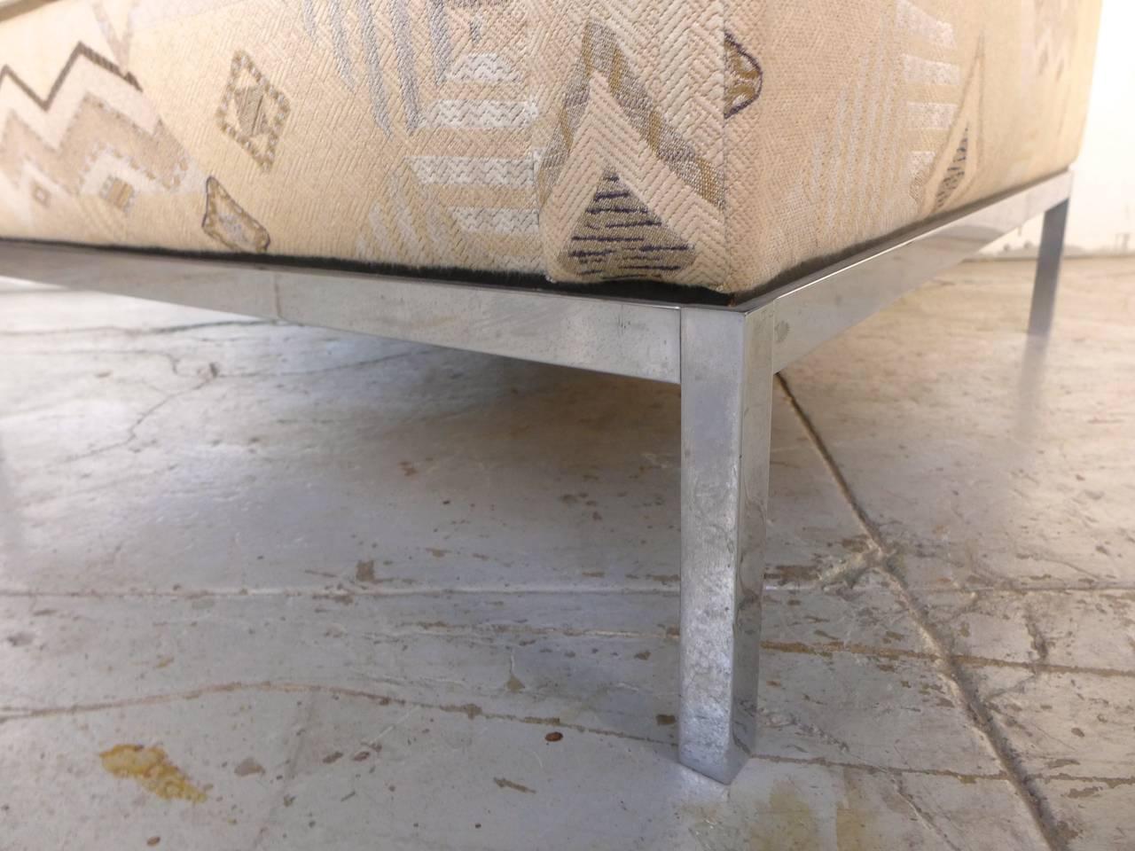 Chrome Florence Knoll Club Chair For Sale