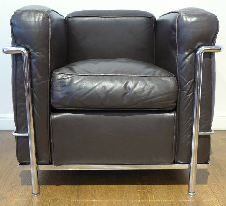 Vintage pair of le corbusier lc 2 armchairs at 1stdibs