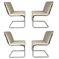 Set of Four Cantilever Chairs by Brueton