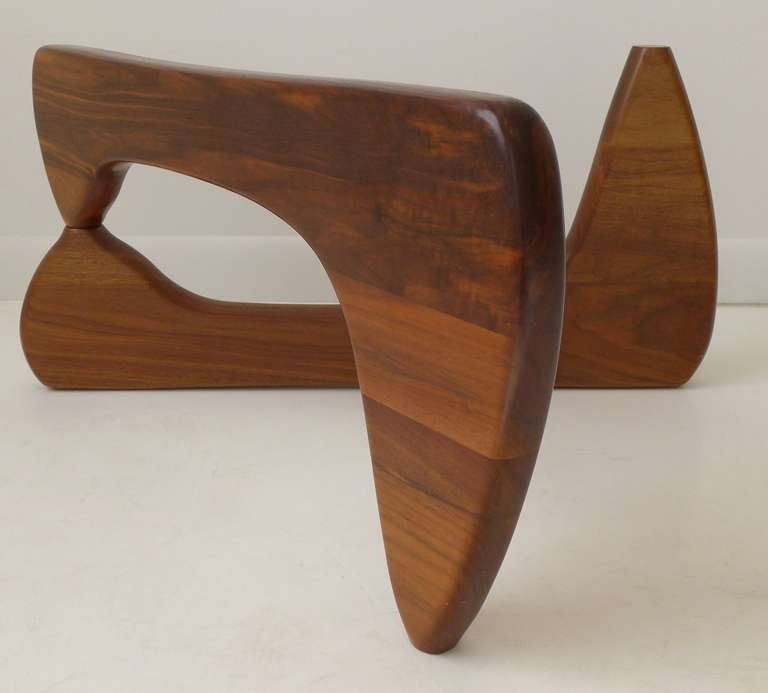 Vintage Noguchi Table In Walnut At 1stdibs