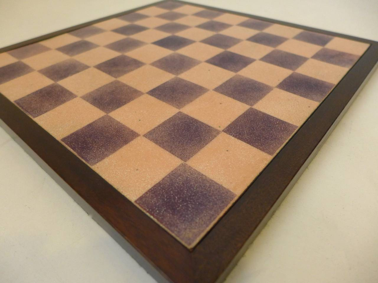 Paolo De Poli Enamel Chessboard In Excellent Condition For Sale In New York, NY