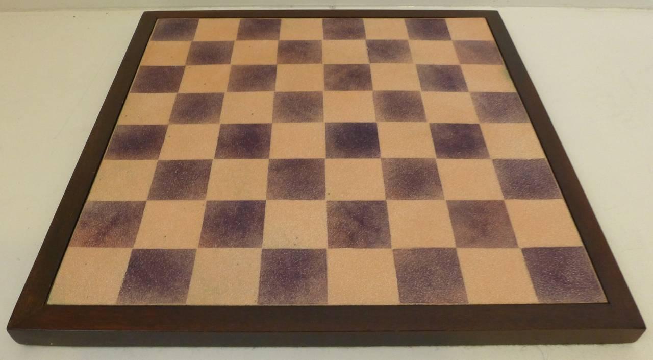 Mid-Century Modern Paolo De Poli Enamel Chessboard For Sale
