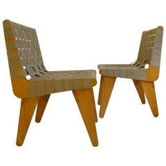 Pair of Klaus Grabe Webbed Chairs