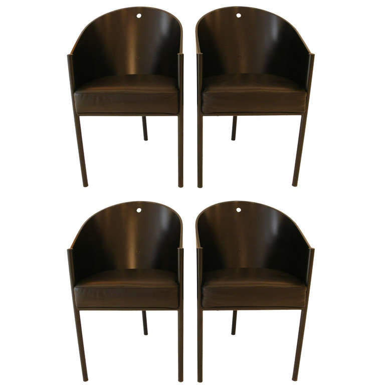 Set of four philippe starck costes chairs at 1stdibs for Philippe starck dining tables