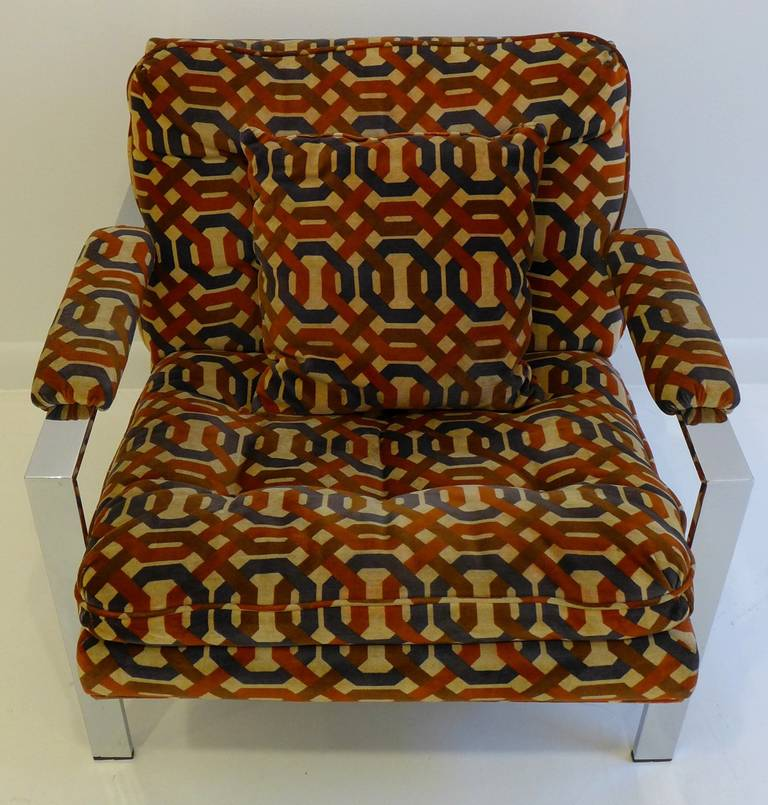 Late 20th Century Pair of Milo Baughman Lounge Chairs For Sale
