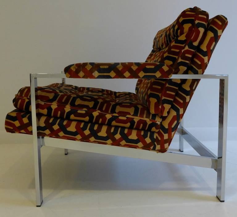 Chrome Pair of Milo Baughman Lounge Chairs For Sale