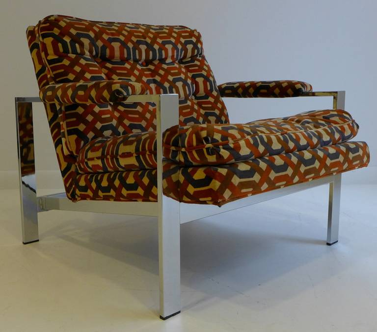 Pair of Milo Baughman Lounge Chairs For Sale 1