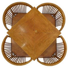 Rare Kaare Klint Table and Chair Set for Rud Rasmussen