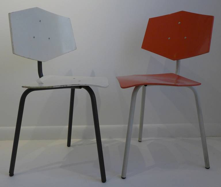Set of Four Chairs by Dutch Company Auping In Good Condition For Sale In New York, NY