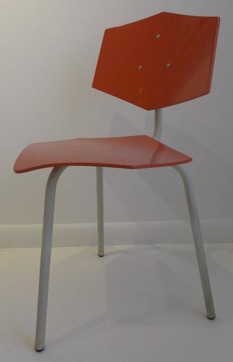 Mid-20th Century Set of Four Chairs by Dutch Company Auping For Sale