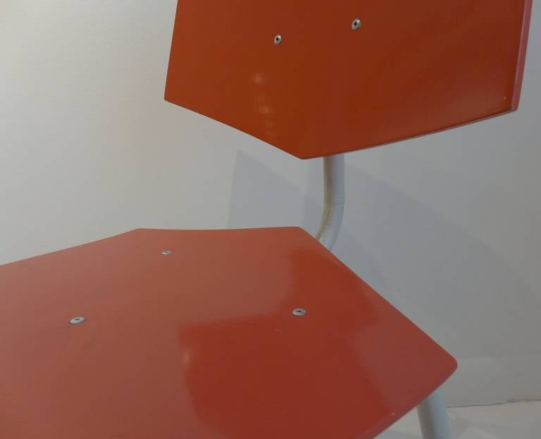 Set of Four Chairs by Dutch Company Auping For Sale 4