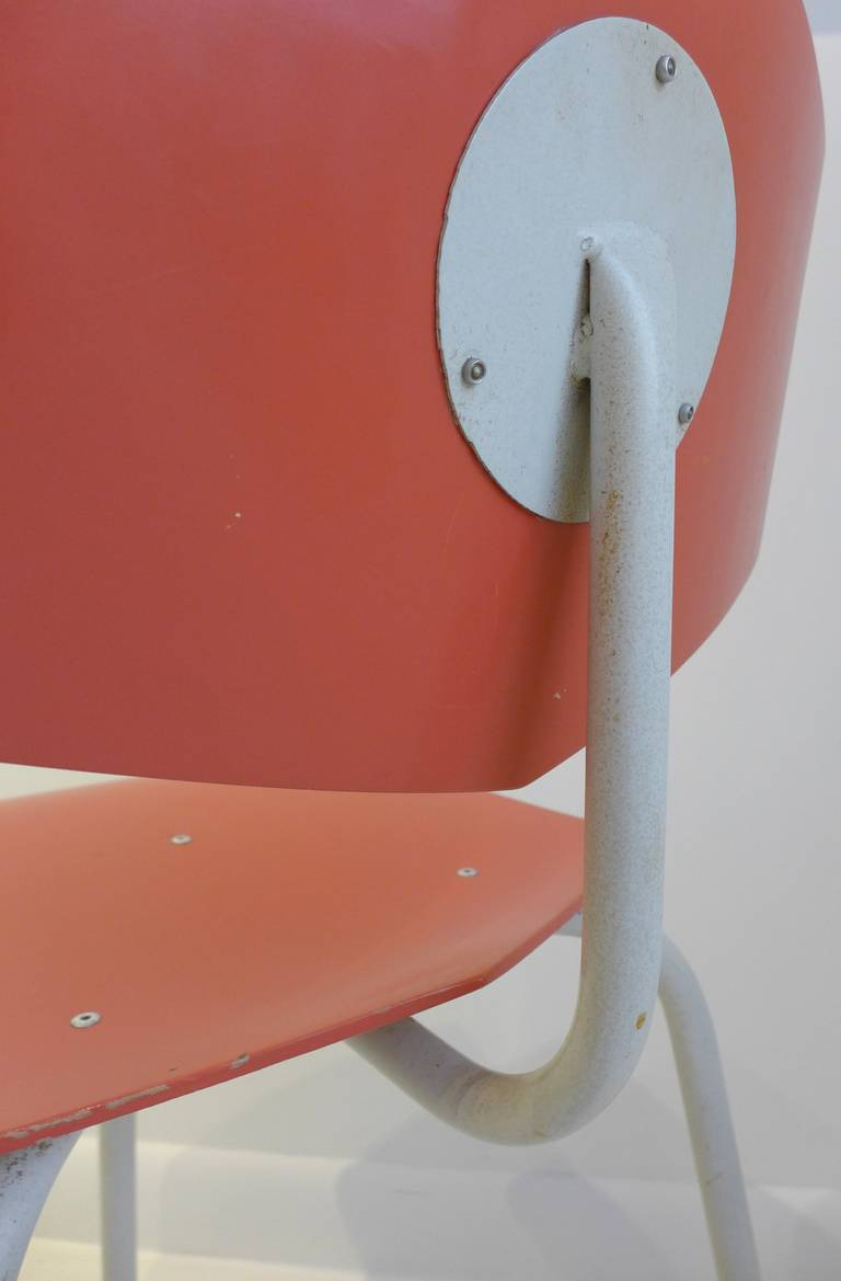 Set of Four Chairs by Dutch Company Auping For Sale 3