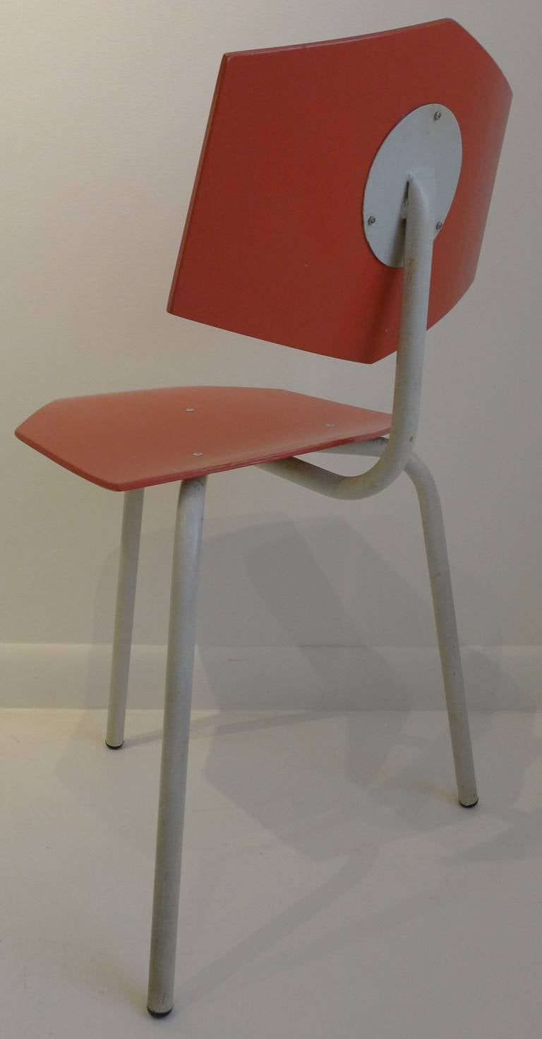 Paint Set of Four Chairs by Dutch Company Auping For Sale
