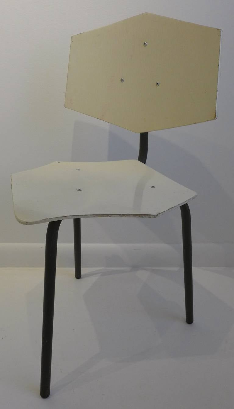 Set of Four Chairs by Dutch Company Auping For Sale 1