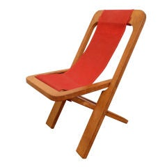 1940's Folding Plywood Child's Chair