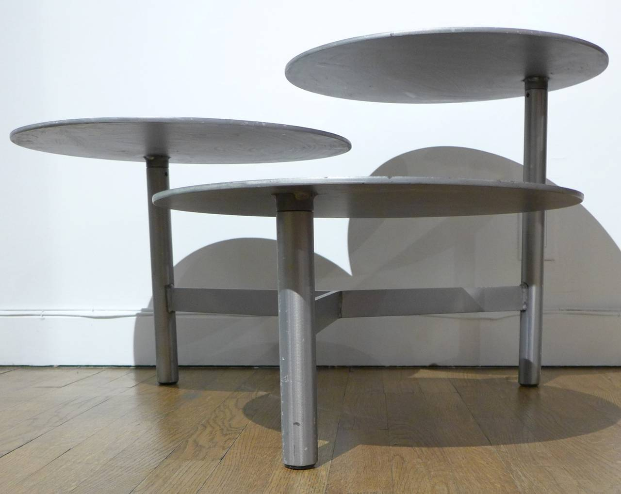 Exhibition Stand Table : Three tiered metal side table or display stand at stdibs