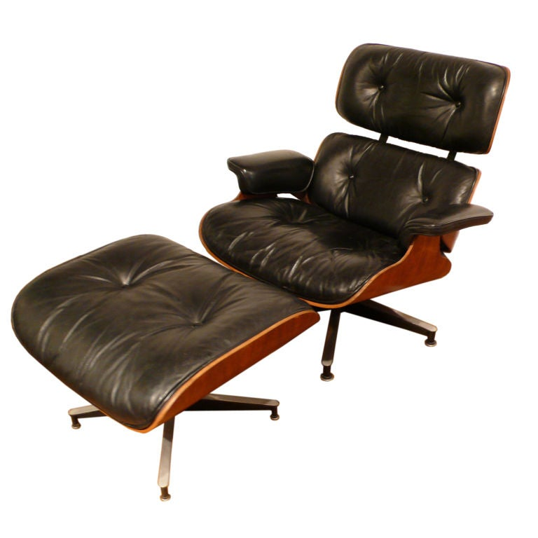 Vintage Eames 670 71 Lounge Chair and Ottoman at 1stdibs