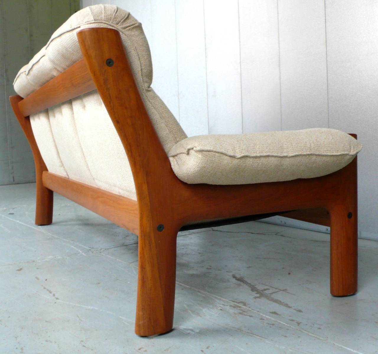 Norwegian Teak Sofa by Ekornes In Excellent Condition For Sale In New York, NY