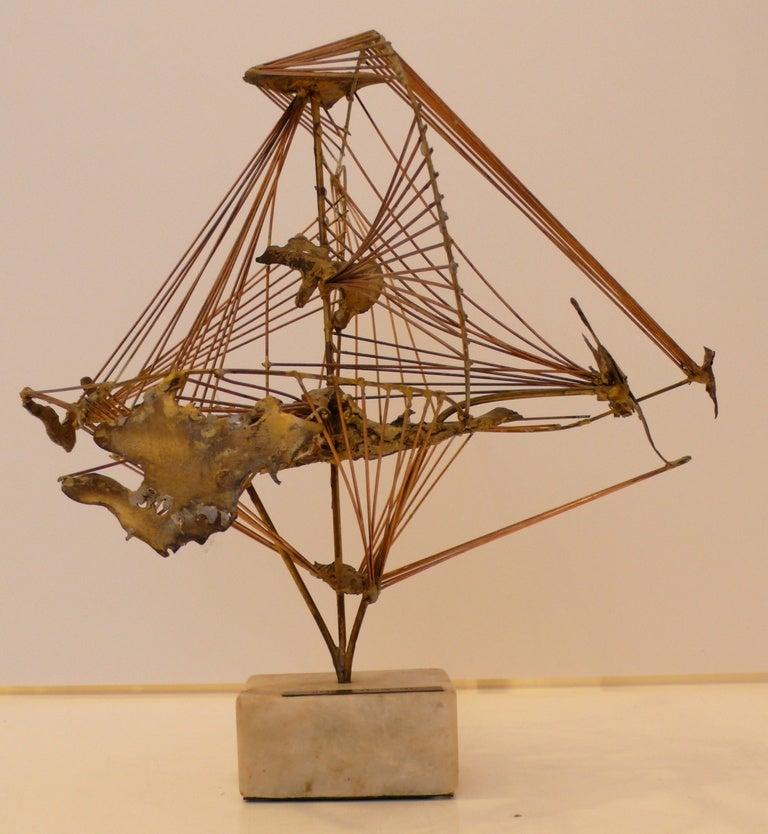 """Abstract Herbert Seiler Sculpture """"Africa"""" 2"""