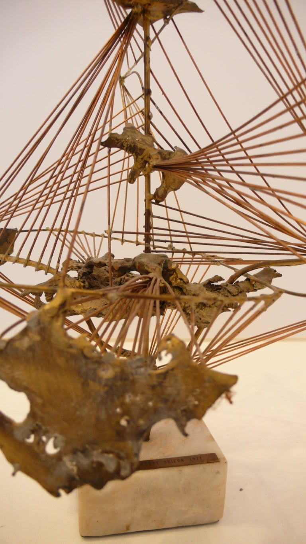 """Abstract Herbert Seiler Sculpture """"Africa"""" 3"""
