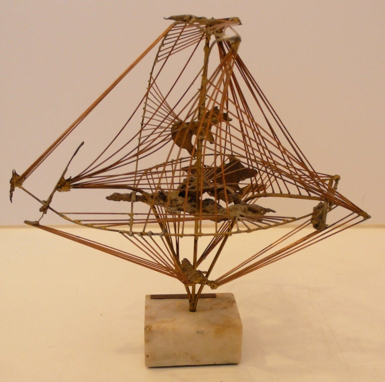 """Abstract Herbert Seiler Sculpture """"Africa"""" 5"""