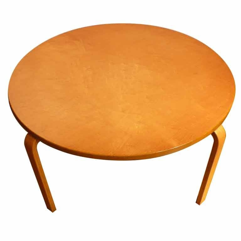 Aalto Esque Coffee Table With Figured Birch Top At 1stdibs