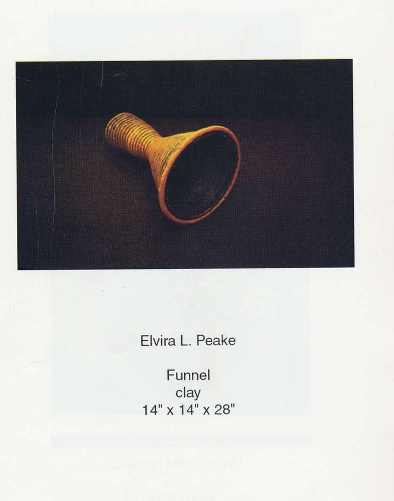 "Ceramic Sculpture ""Funnel"" by Elvira Peake 8"