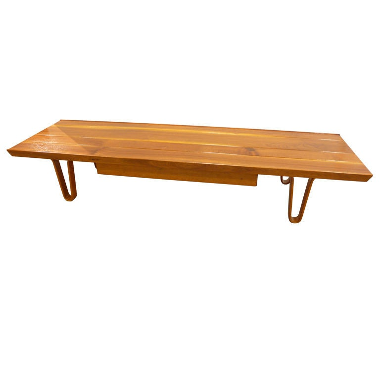 Long John Coffee Table With Drawer At 1stdibs