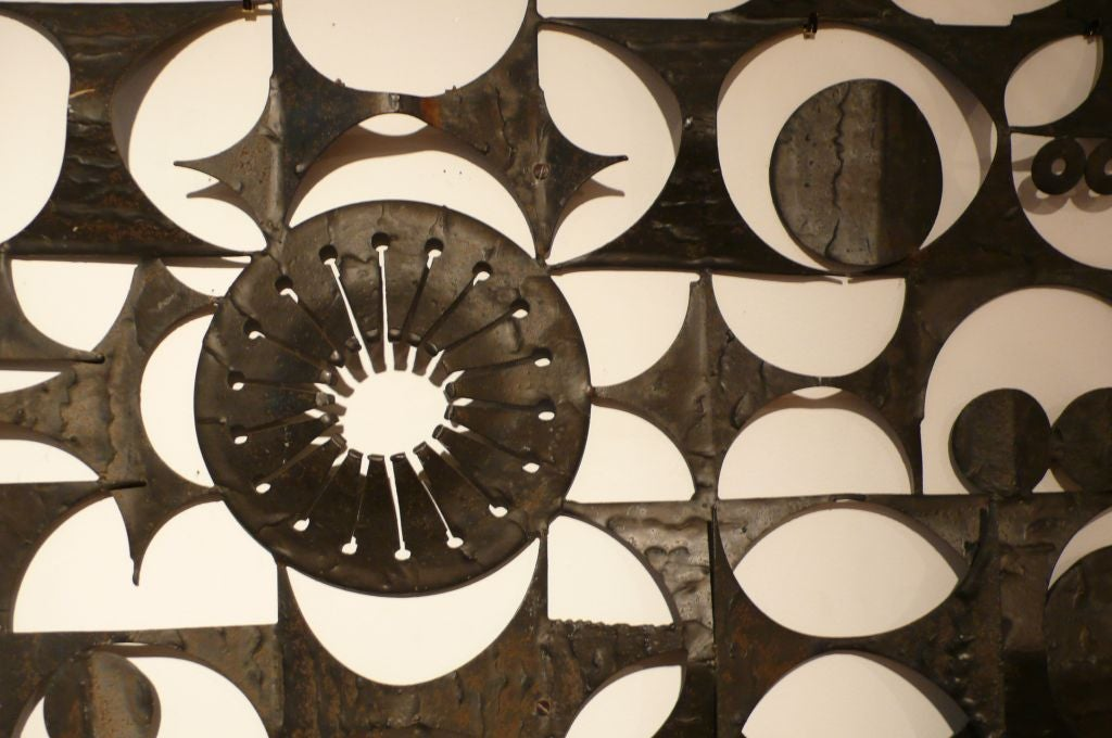 Large Abstract Metal Wall Sculpture At 1stdibs