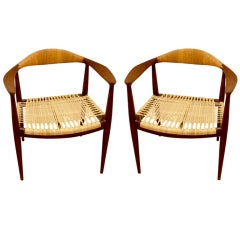 Vintage Pair of Unmarked Classic Chairs
