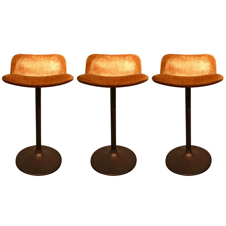 "Set of Three ""Caribe"" Barstools by Ilmari Tapiovaara"