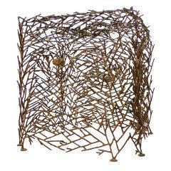 "Metal Sculpture ""Cube"" by Richard Filipowski"