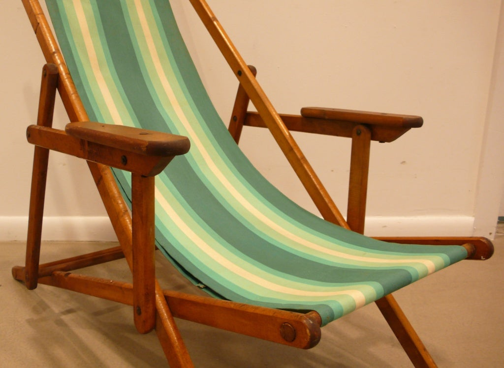 Vintage Folding Deck Chair S At 1stdibs