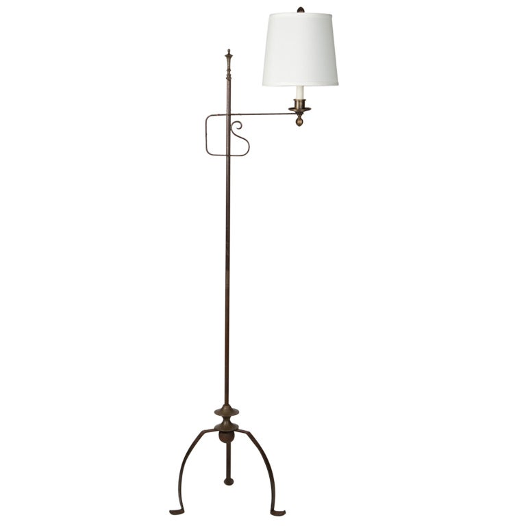 this an adjustable height wrought iron floor lamp is no longer. Black Bedroom Furniture Sets. Home Design Ideas