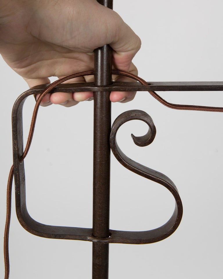 An Adjustable Height Wrought Iron Floor Lamp At 1stdibs