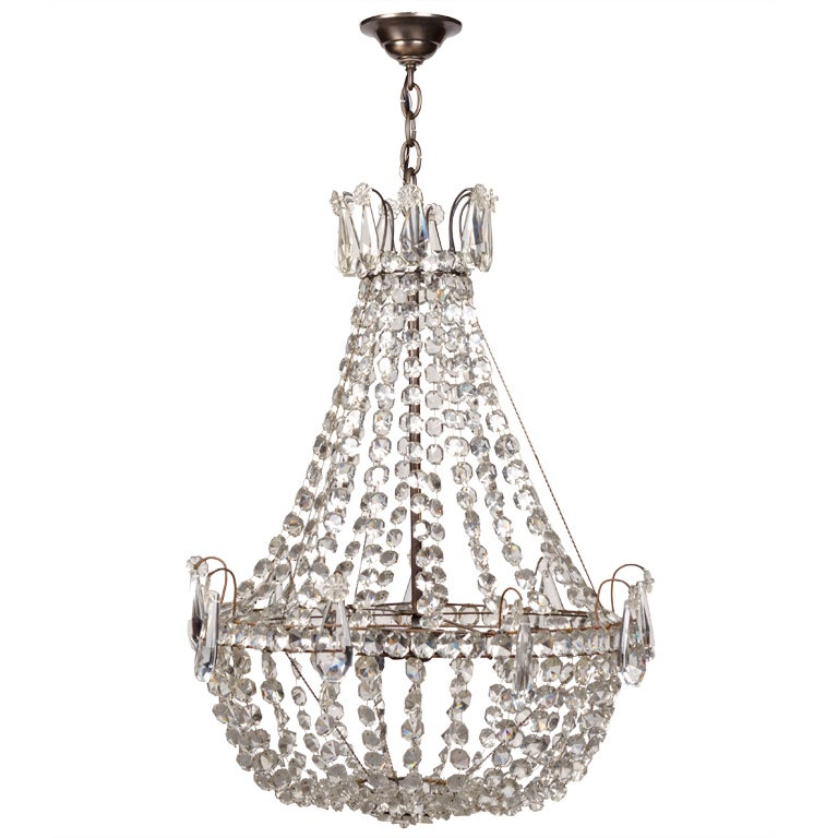 A beaded crystal chandelier at 1stdibs - Chandelier glass beads ...