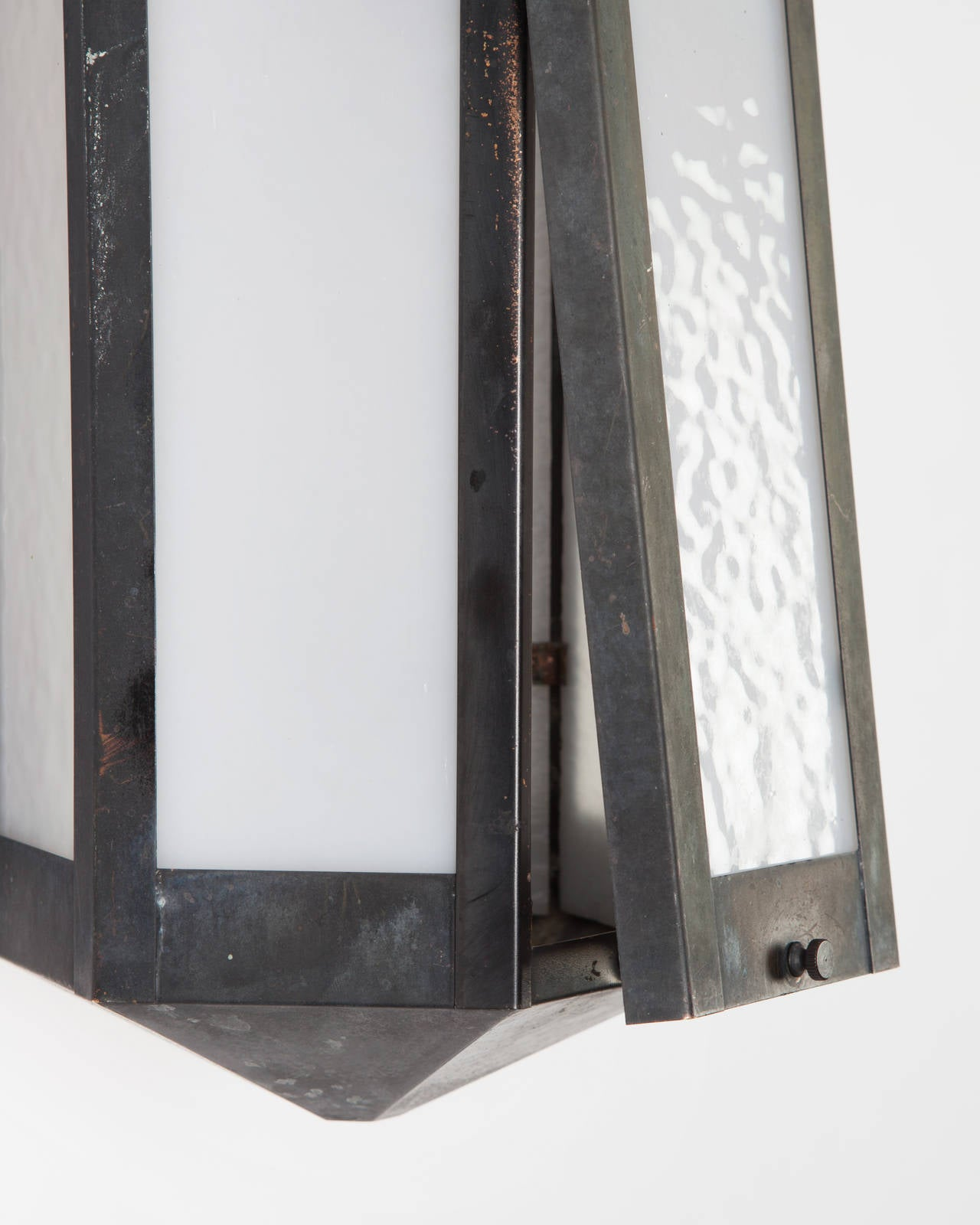 Blackened Exterior Wall Lanterns, Circa 1920 In Excellent Condition In New York, NY