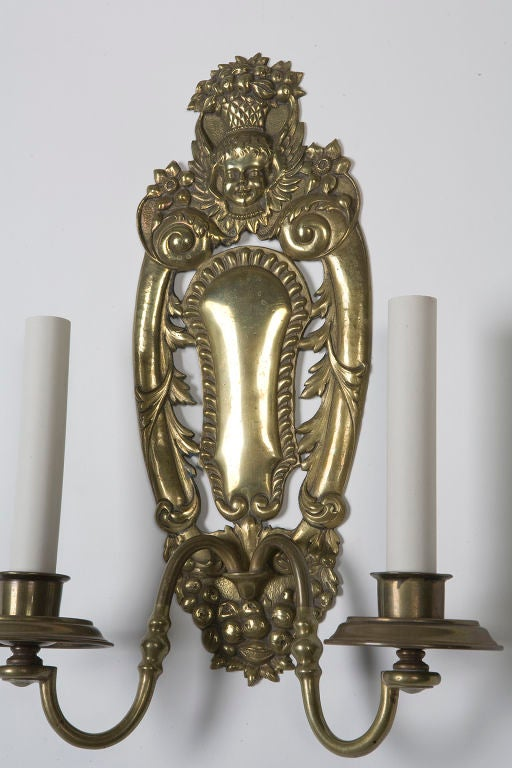 Antique Pair of E. F. Caldwell Sconces In Excellent Condition For Sale In New York, NY